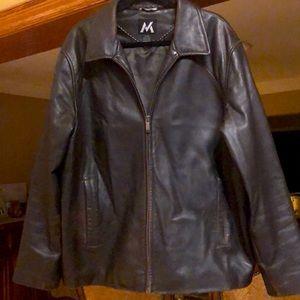 Men's leather jacket XL